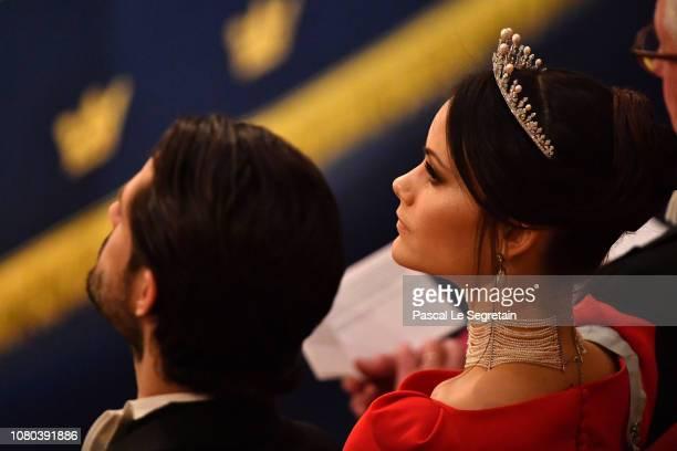 Princess Sofia of Sweden attends the Nobel Prize Awards Ceremony at Concert Hall on December 10 2018 in Stockholm Sweden