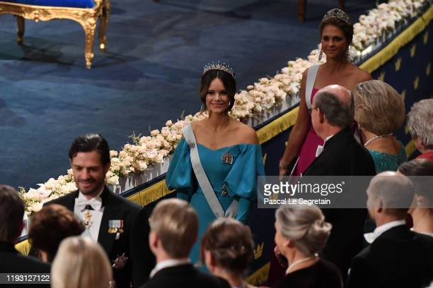 Princess Sofia of Sweden attends the Nobel Prize Awards Ceremony at Concert Hall on December 10, 2019 in Stockholm, Sweden.