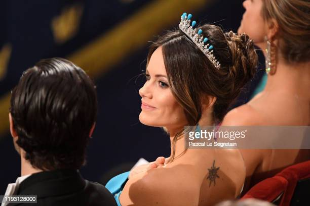 Princess Sofia of Sweden attends the Nobel Prize Awards Ceremony at Concert Hall on December 10 2019 in Stockholm Sweden