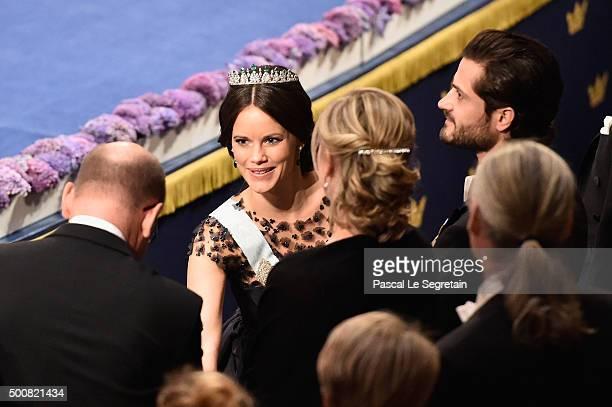 Princess Sofia of Sweden attends the Nobel Prize Awards Ceremony at Concert Hall on December 10 2015 in Stockholm Sweden