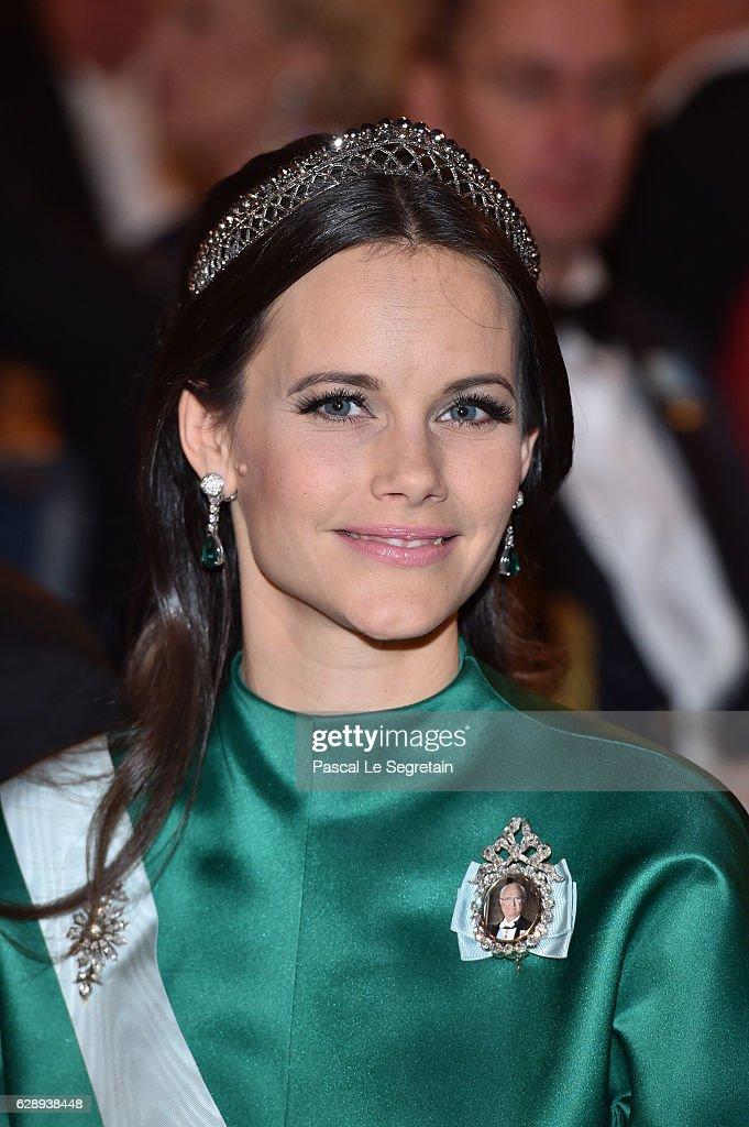 Princess Sofia of Sweden attends the Nobel Prize Banquet 2015 at City Hall on December 10, 2016 in Stockholm, Sweden.