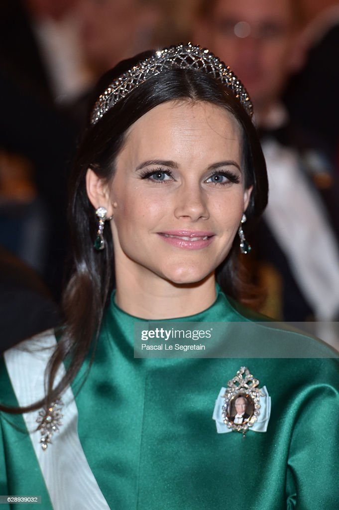 Princess Sofia of Sweden attends the Nobel Prize Banquet 2015 at City Hall on December 10, 2016 in Stockholm, Sweden.