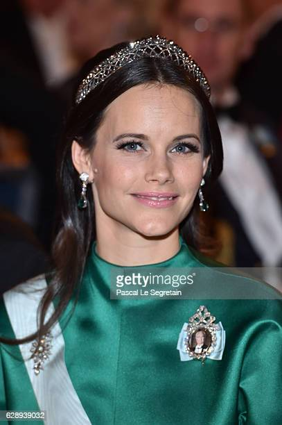 Princess Sofia of Sweden attends the Nobel Prize Banquet 2015 at City Hall on December 10 2016 in Stockholm Sweden