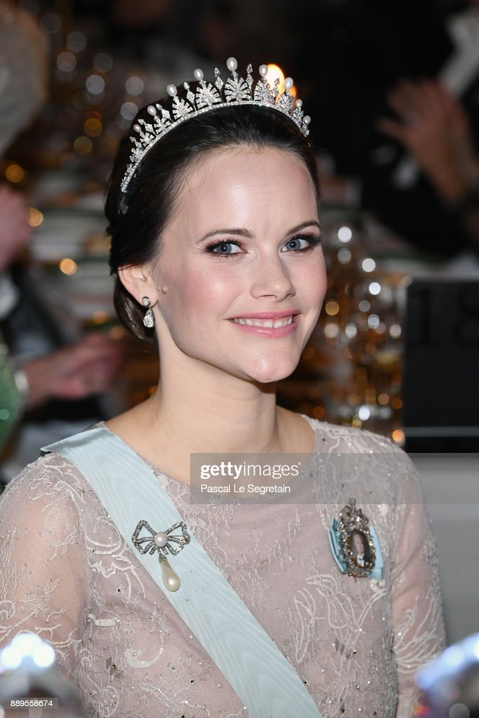 Princess Sofia of Sweden attends the Nobel Prize Banquet 2017 at City Hall on December 10, 2017 in Stockholm, Sweden.