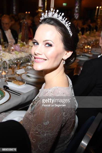 Princess Sofia of Sweden attends the Nobel Prize Banquet 2017 at City Hall on December 10 2017 in Stockholm Sweden