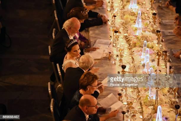 Princess Sofia of Sweden attends the Nobel Prize Banquet 2017 at City Hall on December 10 2017 in Stockholm Sweden