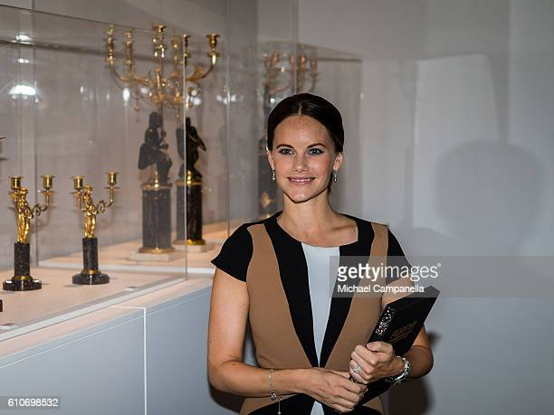 """Princess Sofia of Sweden attends the opening of the """"Porphyry: The Royal Stone"""" exhibition at Sven-Harrys art museum on September 27, 2016 in..."""