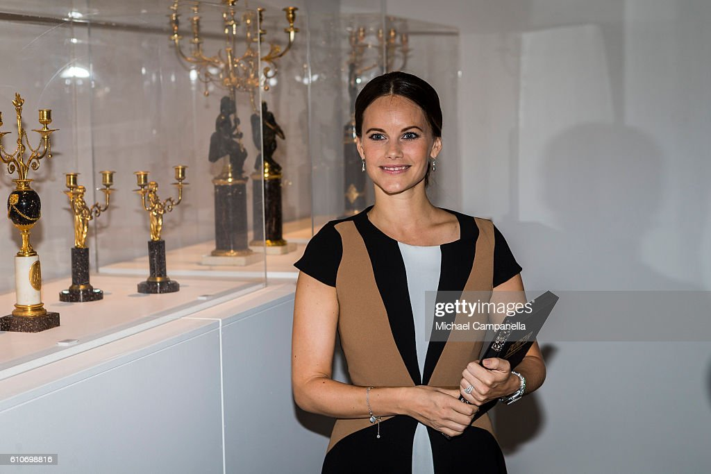 Princess Sofia of Sweden attends the opening of the 'Porphyry: The Royal Stone' exhibition at Sven-Harrys art museum on September 27, 2016 in Stockholm, Sweden.