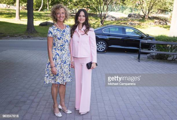 Princess Sofia of Sweden attends The Sophia Party and presentation of Medals of Merit to Sophia Sisters and is greeted by Sophiahemmet director...