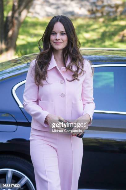 Princess Sofia of Sweden attends The Sophia Party and presentation of Medals of Merit to Sophia Sisters at Sophiahemmet on May 28 2018 in Stockholm...