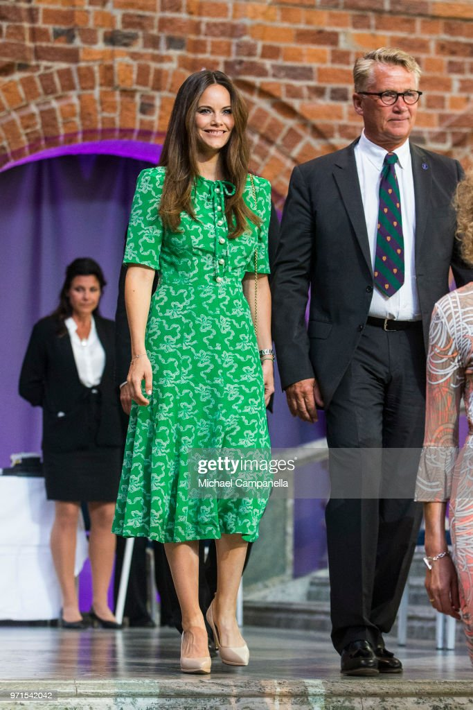 Princess Sofia of Sweden attends the Sophiahemmet University's graduation ceremony at Stockholm City Hall on June 11, 2018 in Stockholm, Sweden.