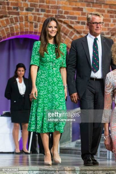 Princess Sofia of Sweden attends the Sophiahemmet University's graduation ceremony at Stockholm City Hall on June 11 2018 in Stockholm Sweden