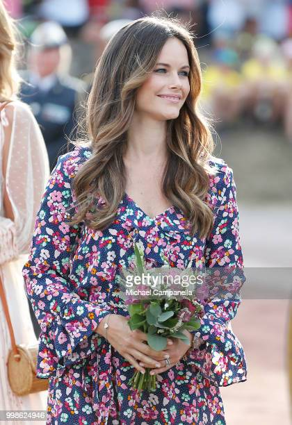 Princess Sofia of Sweden during the occasion of The Crown Princess Victoria of Sweden's 41st birthday celebrations at Borgholm Sports Arena on July...