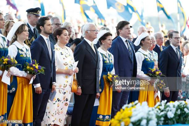 Princess Sofia of Sweden Prince Carl Philip of Sweden Helena Norlen King Carl XVI Gustaf of Sweden Queen Silvia of Sweden Andreas Norlen Crown...