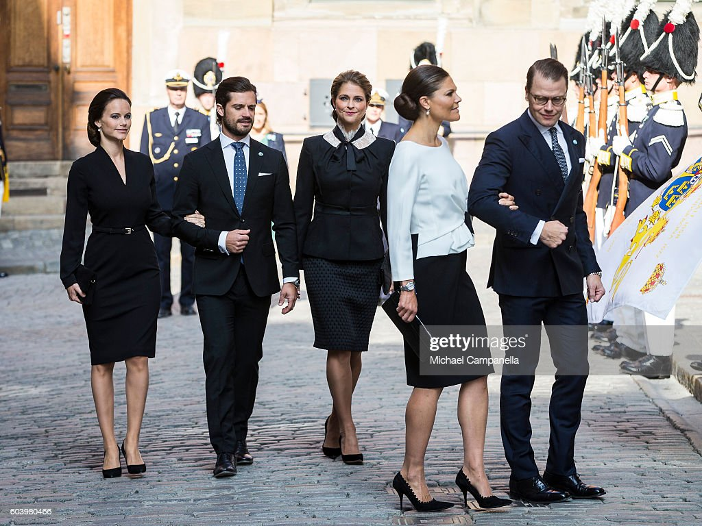 Swedish Royals Attend the Worship At The Church : News Photo