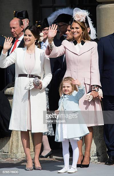 Princess Sofia of Sweden Princess Estelle of Sweden and Princess Madeleine of Sweden attend the celebrations of the Swedish Armed Forces for the 70th...