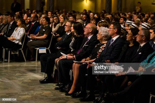 Princess Sofia of Sweden the Duchess of Varmland, and Princess Christina of Sweden attend the Sophiahemmet college graduation ceremony at Stockholm...