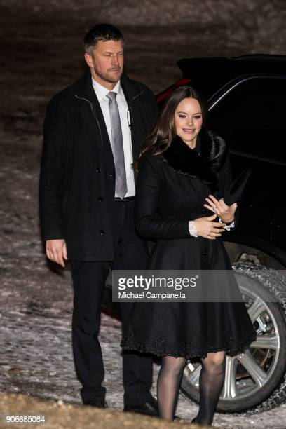 Princess Sofia of Sweden, the Duchess of Varmland, attends the Sophiahemmet college graduation ceremony at Stockholm City Hall on January 18, 2018 in...