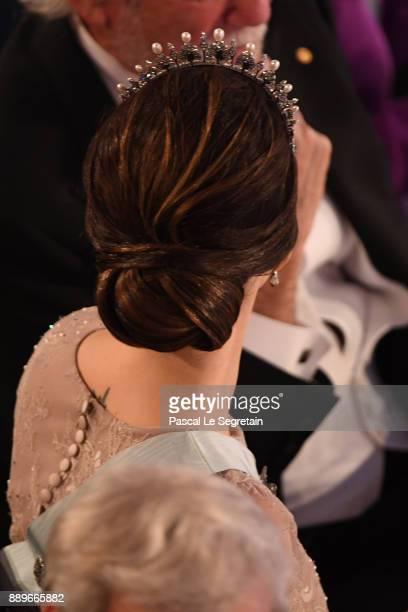 Princess Sofia of Swedenhair detail attends the Nobel Prize Banquet 2017 at City Hall on December 10 2017 in Stockholm Sweden