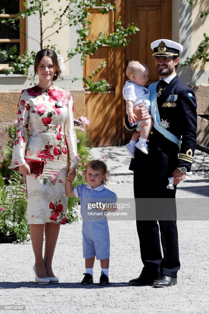 Christening  Of Princess Adrienne Of Sweden : News Photo