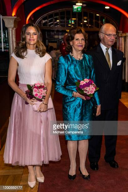 Princess Sofia Queen Silvia and King Carl XVI Gustaf of Sweden attend a concert hosted by Lilla Akademien a music school for children at Vasa Theater...
