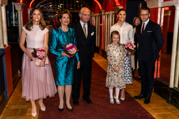 Princess Sofia Queen Silvia King Carl XVI Gustaf Princess Estelle Crown Princess Victoria and Prince Daniel of Sweden attend a concert hosted by...