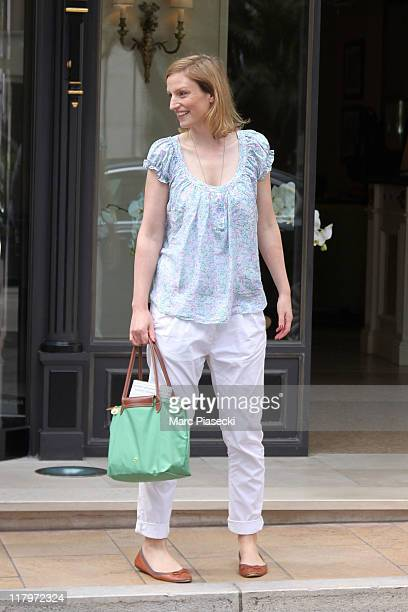 H Princess Sophie Johanna Maria of Isenburg is sighted leaving the 'Hermitage' hotel before the Royal Wedding of Prince Albert II of Monaco to...