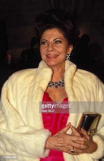 Princess Soraya At 'The Best 1991' Gala In Paris On Nocember 11th 1991