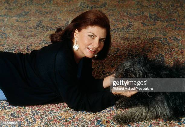 Princess Soraya of Iran at Home in Paris
