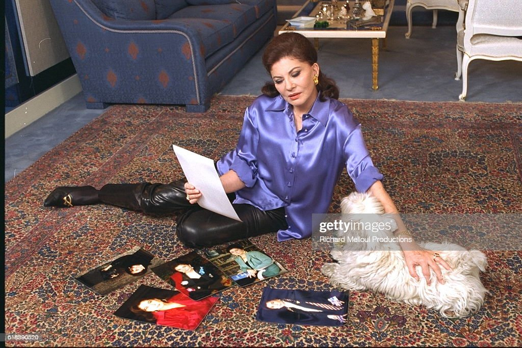 Princess Soraya of Iran at Home in Paris : Photo d'actualité