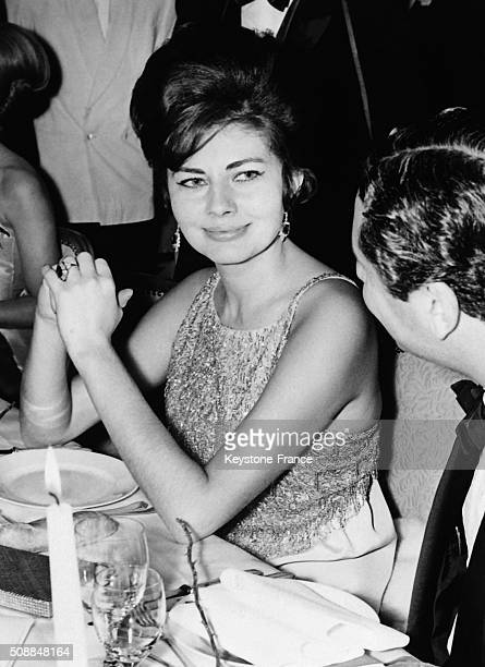 Princess Soraya's First Appearance After The Breaking Of Her Engagement With Gunther Sachs At a Charity Dinner For Refugees in DivonneLesBains France...