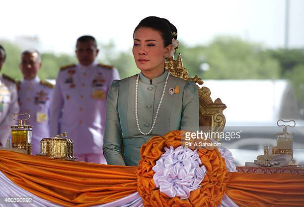 Princess Srirasmi attend the annual Royal Ploughing Ceremony to mark the traditional beginning of the ricegrowing season at Sanam Luang The ancient...
