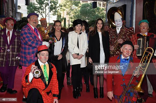Princess Stephanie and her daughters Camille Gotlieb and Pauline Ducruet attend the 39th International MonteCarlo Circus Festival on January 18 2015...