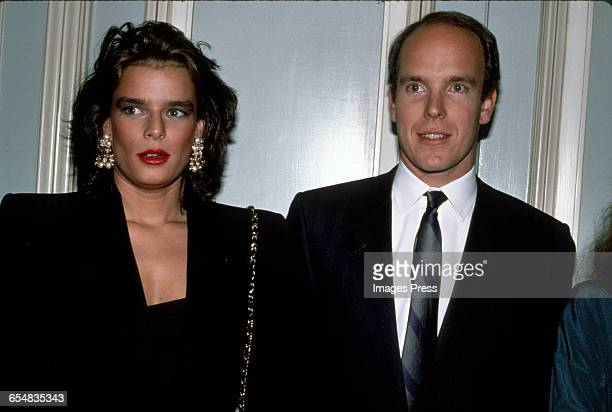 Princess Stephanie and Prince Albert of Monaco circa 1989 in New York City