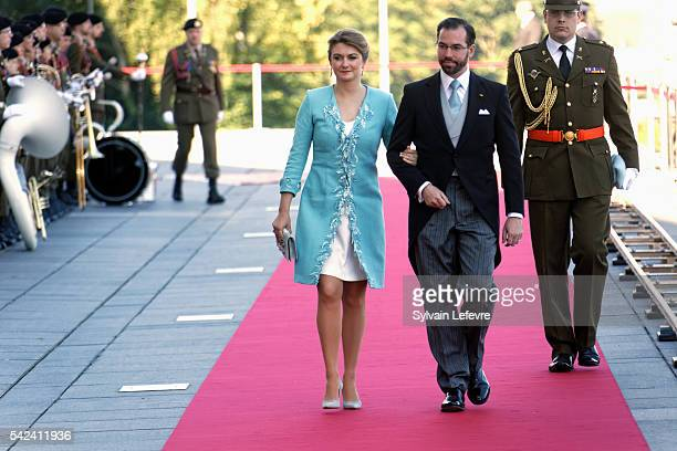 Princess Stephanie and Prince Guillaume of Luxembourg celebrate National Day at Philarmonie on June 22 2016 in Luxembourg Luxembourg