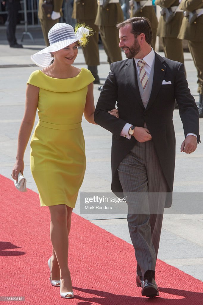 Princess Stephanie and Prince Guillome of Luxembourg assist National Day on June 23, 2015 in Luxembourg, Luxembourg.