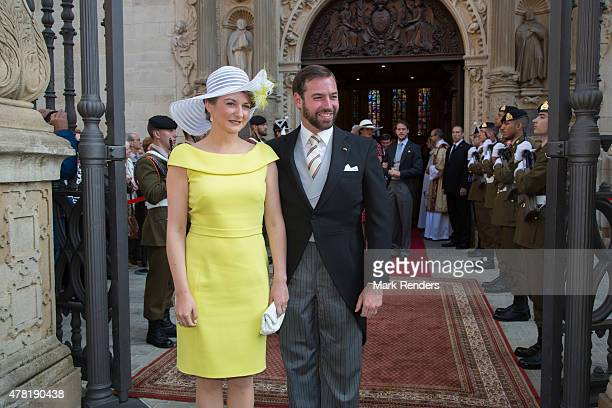 Princess Stephanie and Prince Guillome of Luxembourg on June 23 2015 in Luxembourg Luxembourg