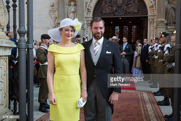 Princess Stephanie and Prince Guillome of Luxembourg on June 23, 2015 in Luxembourg, Luxembourg.