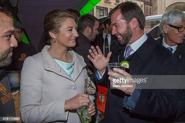 Princess Stephanie and Prince Guillome of Luxembourg visit Esch on National Day on June 22 2015 in EschsurAlzette Luxembourg