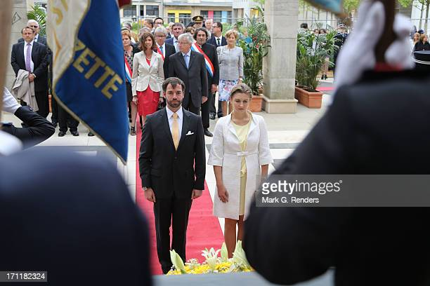Princess Stephanie and Prince Guillome of Luxembourg visit EschsurAlzette on June 22 2013 in Luxembourg Luxembourg