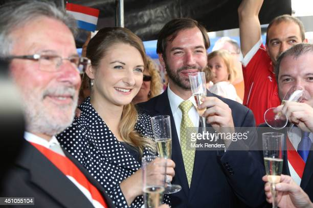 Princess Stephanie and Prince Guillome of Luxembourg visit the town EschsurAlzette on June 22 2014 in Luxembourg Luxembourg