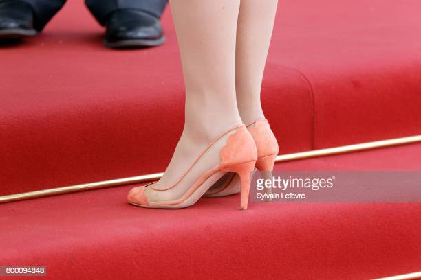 Princess Stephanie arrives at Luxembourg Philarmonie hall for official reception of National Day on June 23 2017 in Luxembourg Luxembourg