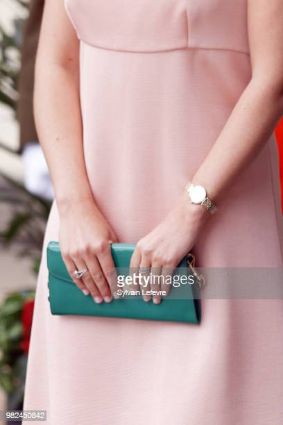 Princess Stephanie arrives for Te Deum for National Day at Notre Dame du Luxembourg cathedral on June 23 2018 in Luxembourg Luxembourg