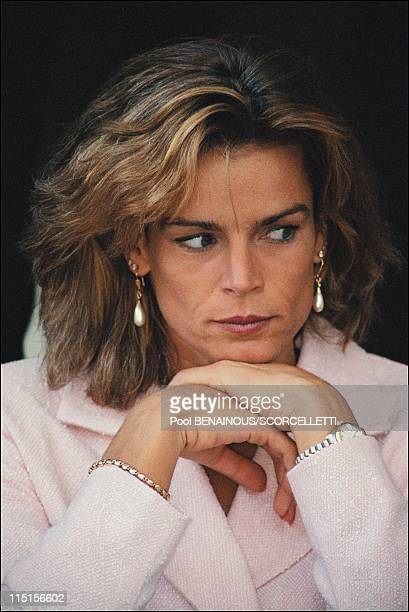 Princess Stephanie at Monaco elegance contest in Monaco City, Monaco on September 20, 1996.