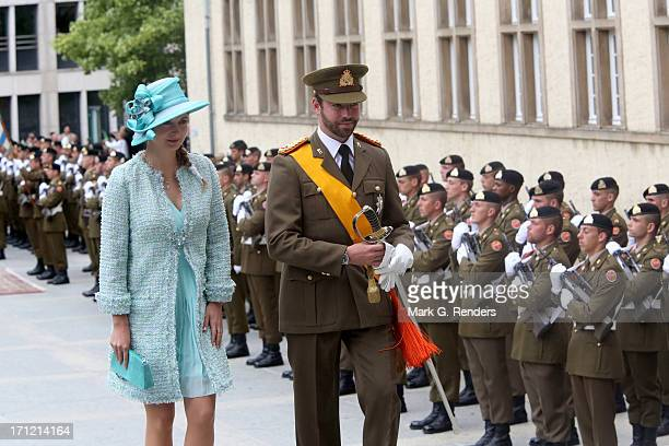 Princess Stephanie of Luxembourg and Prince Guillaume of Luxembourg celebrate National Day on June 23 2013 in Luxembourg Luxembourg