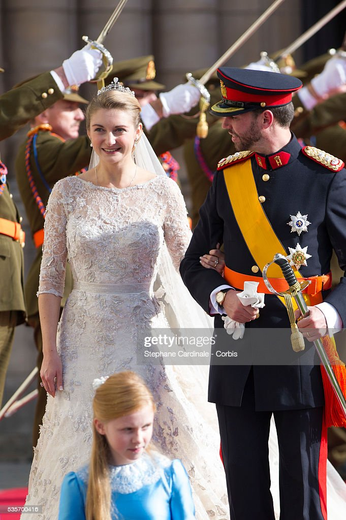 Luxembourg - The Wedding of Prince Guillaume of Luxembourg & Stephanie de Lannoy - Official Ceremony : News Photo