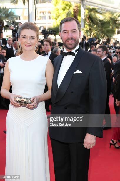 Princess Stephanie of Luxembourg and Prince Guillaume of Luxembourg attend the Ismael's Ghosts screening and Opening Gala during the 70th annual...