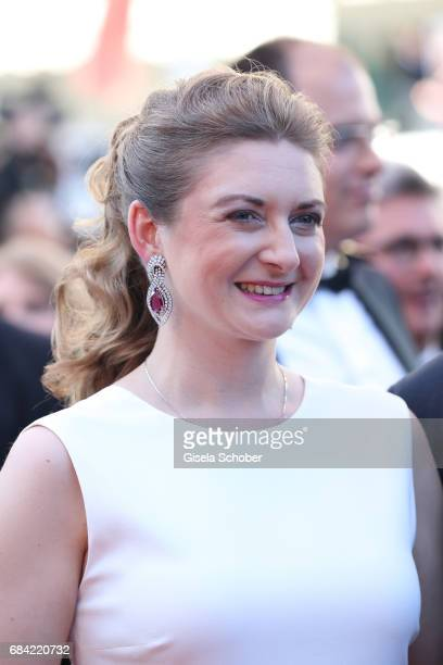 Princess Stephanie of Luxembourg attends the Ismael's Ghosts screening and Opening Gala during the 70th annual Cannes Film Festival at Palais des...