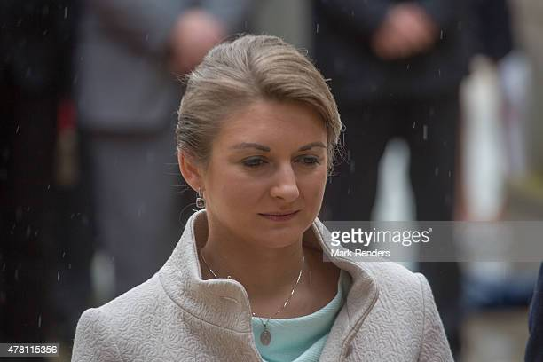Princess Stephanie of Luxembourg visit Esch on National Day on June 22 2015 in EschsurAlzette Luxembourg