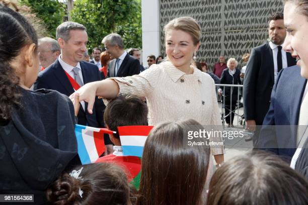 Princess Stephanie of Luxembourg visits Esch-sur-Alzette for National Day on June 22, 2018 in Luxembourg, Luxembourg.